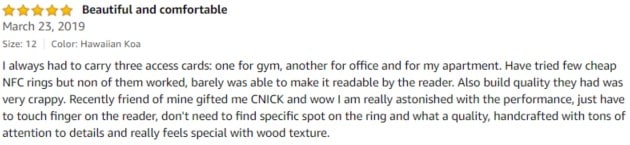 CNICK Amazon review 2