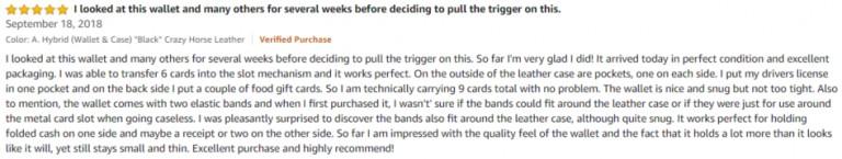 FIDELO Amazon Review