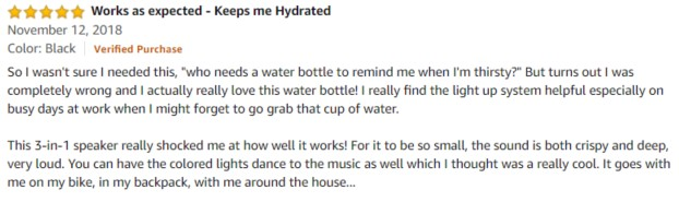 ICEWATER Amazon Review