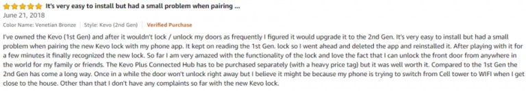 Kwikset Kevo Amazon Review 5