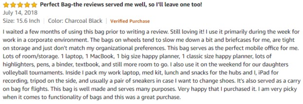 MATEIN Amazon review