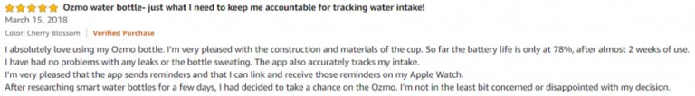 Ozmo Amazon review 2