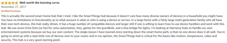 SmartThings Hub 2 Amazon Review