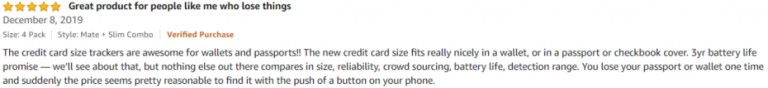 TIle Amazon review 2