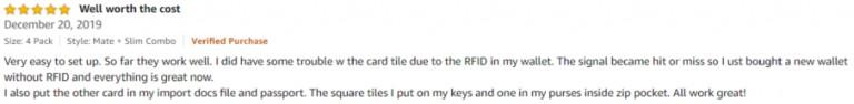 TIle Amazon review 3