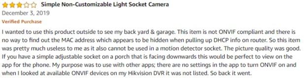 Zeus CCTV Amazon review