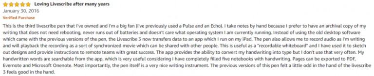 Livescribe 3 smartpen Amazon review 2