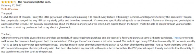 Livescribe 3 smartpen Amazon review 3