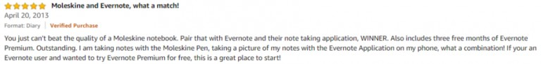 Moleskine Evernote Smart Notebook Amazon review 2
