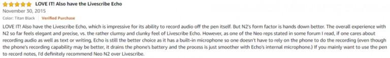 Neo Smartpen N2 Amazon review 2
