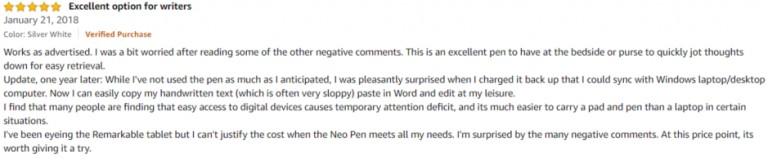 Neo Smartpen N2 Amazon review 3