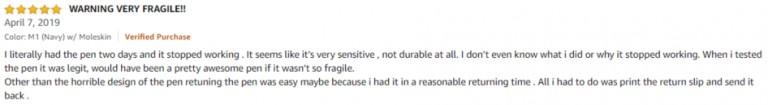 NeoLab Convergence Smartpen M1 Amazon review 2