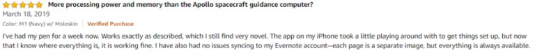 NeoLab Convergence Smartpen M1 Amazon review 3