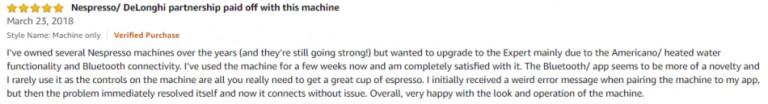 Nespresso by De'Longhi EN350G Amazon review 3