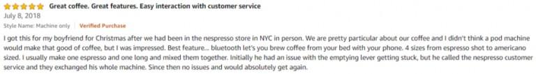 Nespresso by De'Longhi EN350G Amazon review