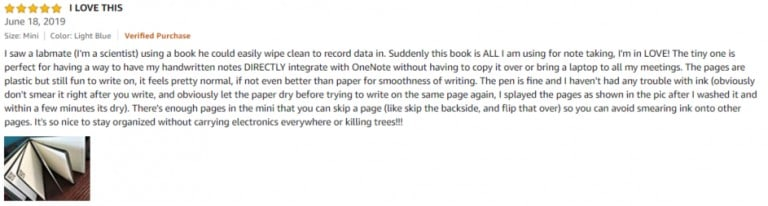 Rocketbook Mini Smart Reusable Notebook Amazon review 3