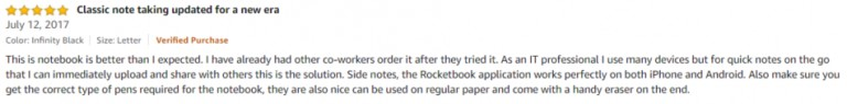 Rocketbook Smart Reusable Notebook Amazon Review 2