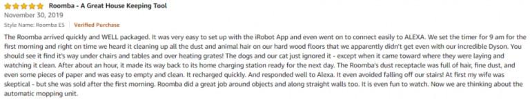 iRobot Roomba E5 Amazon review 2