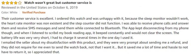 321OU Smartwatch Amazon review 2