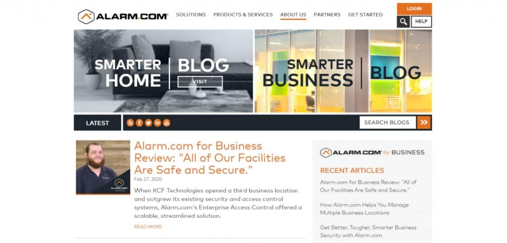 Alarm Business blog