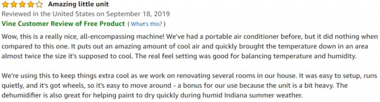 DeLonghi Pinguino 4-in-1 Amazon review