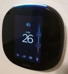 Picture of the ecobee thermostat