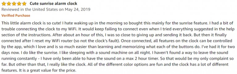 HeimVision Sunrise Amazon review 2
