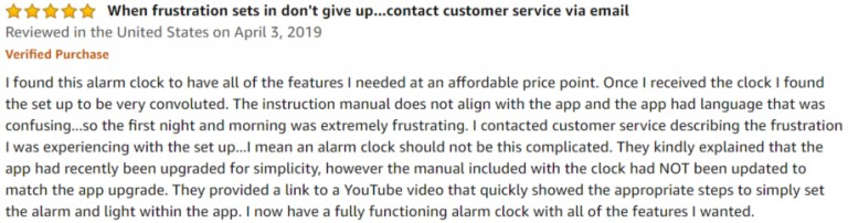 HeimVision Sunrise Amazon review 3