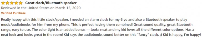 Heimvision music alarm Amazon review 2
