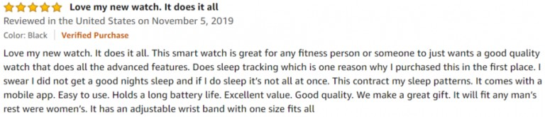 Letsfit Smart Watch Amazon review