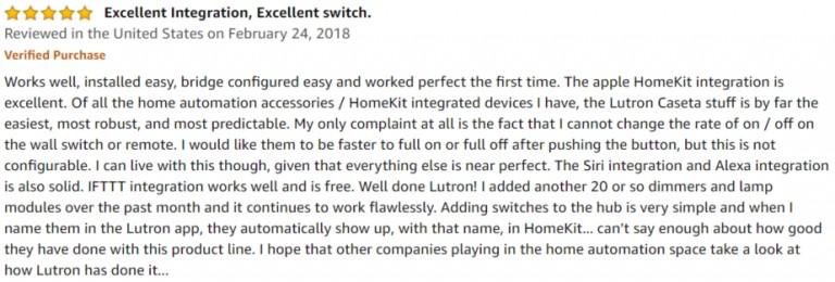 Lutron Caseta Smart Switch Amazon review 3