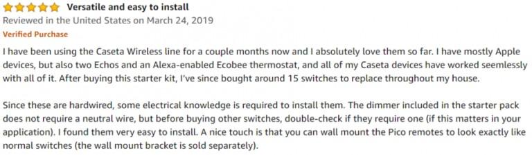 Lutron Caseta Smart Switch Amazon review