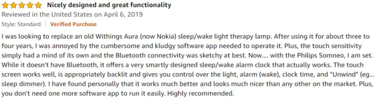 Philips SmartSleep Amazon review 3