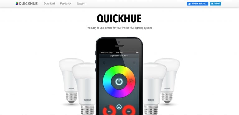 QuickHue Homepage
