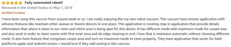 Roborock E35 Amazon review 3