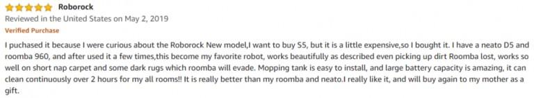 Roborock E35 Amazon review