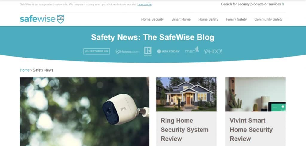 SafeWise Homepage