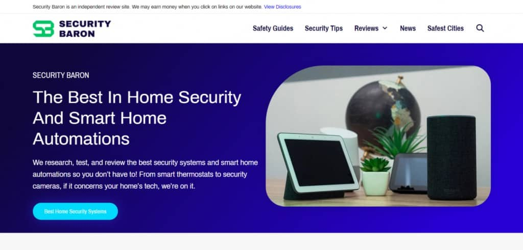 Blog Homepage for Security Baron