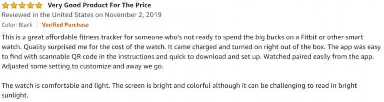 Willful Smartwatch Amazon Review 2