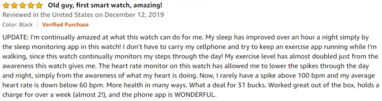 Willful Smartwatch Amazon Review 3