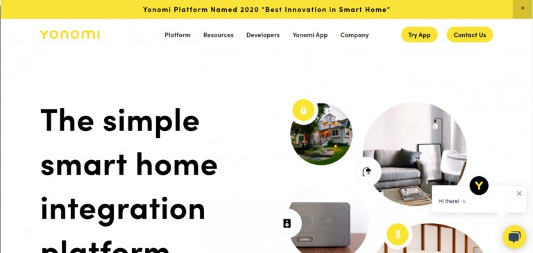 Yonomi Homepage