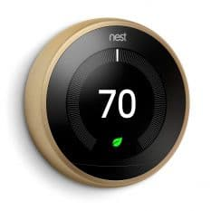 Brass Google Nest thermostat