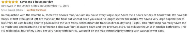 iRobot Braava Jet M6 Amazon review