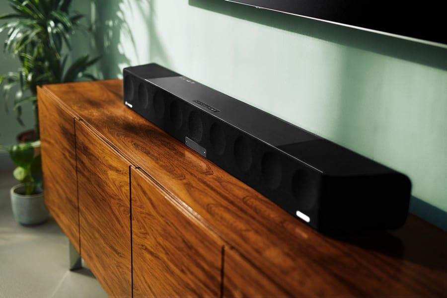 Soundbar on a wooden table