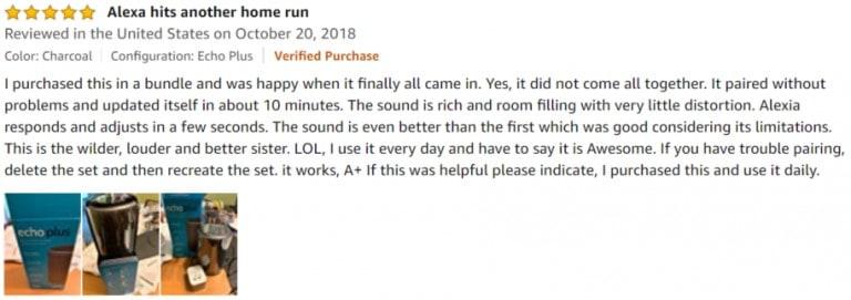 Amazon Echo Plus Amazon review 2