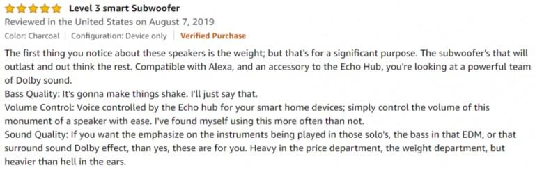 Amazon Echo Sub Amazon Review