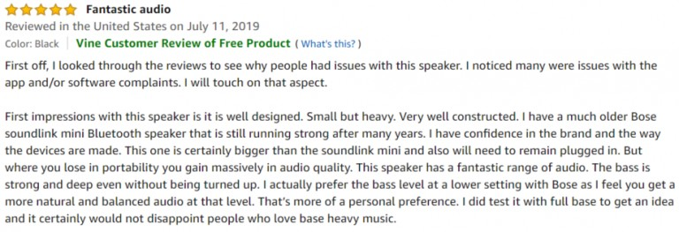 Bose Home Speaker 300 Amazon review 2