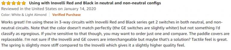GE Enbrighten Z-Wave Amazon review 3
