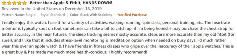 Garmin vívoactive 3 Amazon review 3