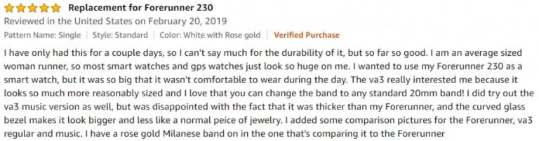 Garmin vívoactive 3 Amazon review